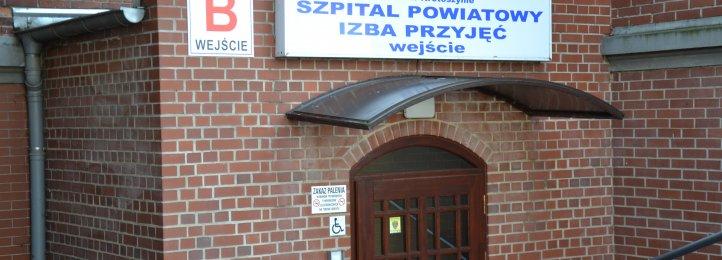 Wejście do Izby Przyjęć szpitala przy ul. Bolewskiego w Krotoszynie.