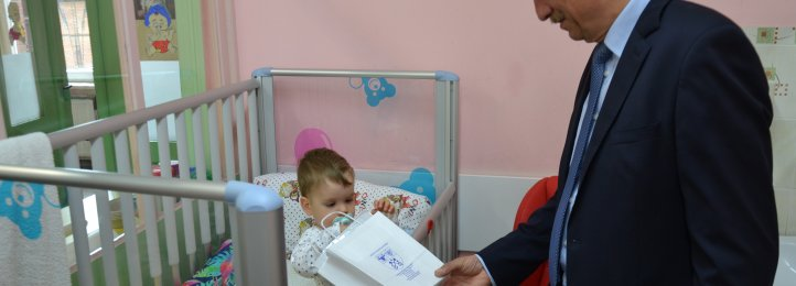 Upominki i życzenia dla najmłodszych pacjentów